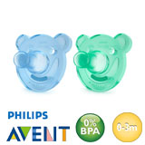 Philips Avent Soothie sutter, runde, silikone str.1