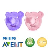 Philips Avent Soothie sutter, runde, silikone str.2
