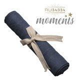 Filibabba Muslin Diaper, Dark Blue